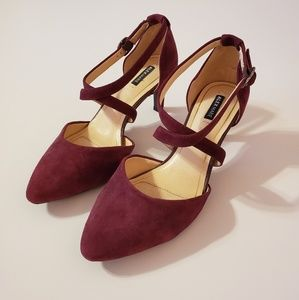 Brand New Alex Marie Burgundy Heels Size 7.5 CUTE!